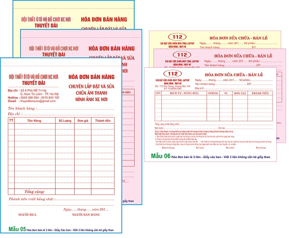 Image result for In hóa đơn bán lẻ
